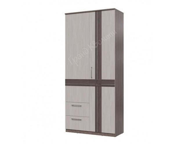 Шкаф 2-х дверный с ящиками Презент бодега светлый/ бодега тёмный
