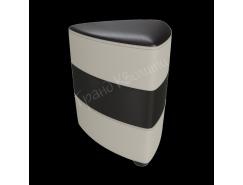 Банкетка Норд темно-коричневый/ белый