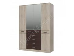 Шкаф 4-х дверный с ящиками Румба венге/ дуб сонома
