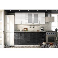 МН для кухни Эко 2000 Страйп белый/черный