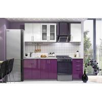 МН для кухни Эко 1600 Белый глянец/Виолетта глянец