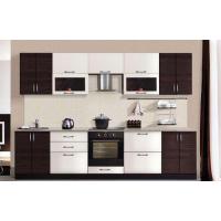 МН для кухни Эко 3000 FMP 1201-R белый шелк / FMP 1998-10 венге