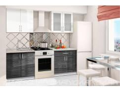 МН для кухни Эко 1600 Страйп белый/черный