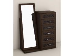 Комод 6 ящ./зеркало Кэт-4 венге Linum/Caiman коричневый