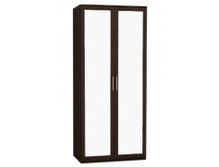 Шкаф 2-ств. с зеркалом  Кэт-4 венге Linum/Caiman коричневый