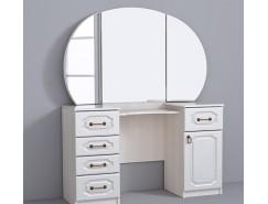 Стол туалетный КЭТ-6 Классика бодега белая/жемчужный перламутр
