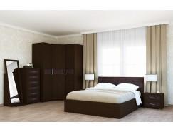 Спальня Кэт-4 Вариант 4 венге Linum/Caiman коричневый