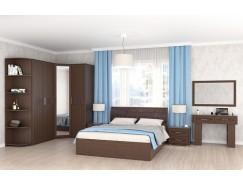 Спальня Кэт-4 Вариант 2 венге Linum/Caiman коричневый