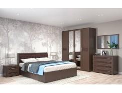Спальня Кэт-4 Вариант 1 венге Linum/Caiman коричневый