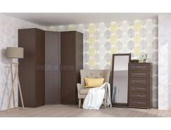 Спальня Кэт-4 Вариант 5 венге Linum/Caiman коричневый