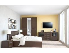 Спальня Кэт-4 Вариант 3 венге Linum/Caiman коричневый