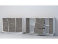 Комод К-2 (ПД) бетон светлый/ камень темный