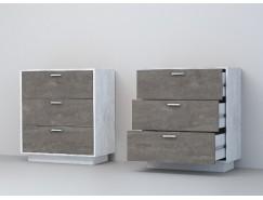 Комод К-3 (ПД) бетон светлый/ камень темный