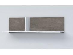 Полка ПЛ-1 камень тёмный/ бетон светлый