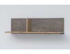 Полка ПЛ-1 камень тёмный/дуб крафт золотой