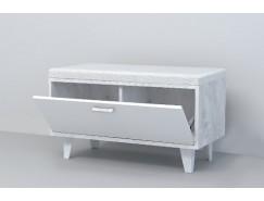 Обувница ОБ-1 (НГ) белый глянец/ бетон светлый