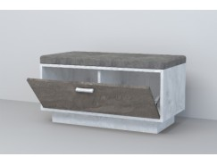 Обувница ОБ-1 (ПД) бетон светлый/ камень темный