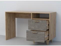 Письменный стол  СТ-3 (НГ) дуб крафт золотой/ камень темный