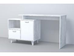 Письменный стол  СТ-2 (НГ) бетон светлый/ белый глянец