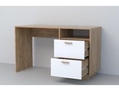 Письменный стол  СТ-3 (ПД) дуб крафт золотой/ белый глянец