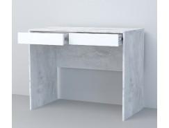 Стол СТ-1 белый глянец/ бетон светлый