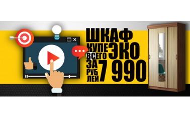 Видео обзор. Шкаф-купе за 7990 рублей!