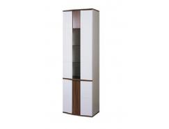 Шкаф-витрина арт.50 Донна ясень шимо темный/ белый глянец