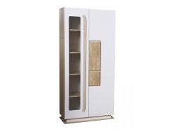Шкаф комбинированный 30.02-02 Дора дуб сонома/ белый глянец