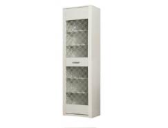 Шкаф- витрина 06.119  вудлайн кремовый/ сандал белый
