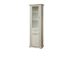 Шкаф-витрина 32.06 Сохо бетон пайн белый/ бетон пайн патина