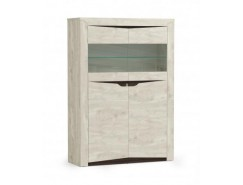 Шкаф-витрина 33.15 Лючия  бетон пайн белый/венге