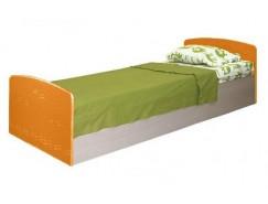 Кровать одинарная Лего-2 дуб линдберг/ оранжевый металлик