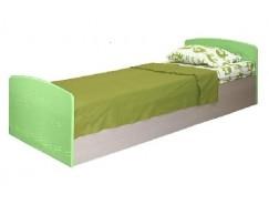 Кровать одинарная Лего-2 дуб линдберг/ эвкалипт металлик