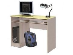 Компьютерный стол Лего-4 дуб линдберг/ кремовый металлик