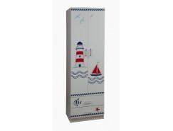 Шкаф для одежды Лего-3 (Кораблик) белый