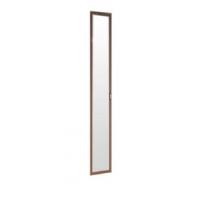 Дверь Миндаль 2188*396 с зеркалом Миндаль профиль аруша венге кожа коричневая