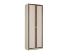 Шкаф для одежды 06.14  вудлайн кремовый/аруша венге кожа коричневая