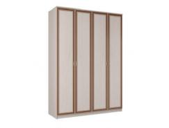 Шкаф для одежды 06.38 Миндаль вудлайн кремовый/ аруша венге кожа коричневая