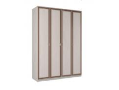 Шкаф для одежды 06.39 Миндаль вудлайн кремовый/  аруша венге кожа коричневая