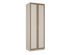 Шкаф для одежды 06.55 Миндаль вудлайн кремовый/ аруша венге кожа коричневая