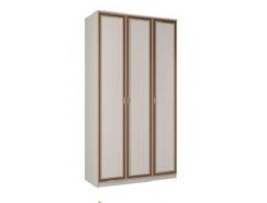 Шкаф для одежды 06.56 Миндаль вудлайн кремовый/ аруша венге кожа коричневая