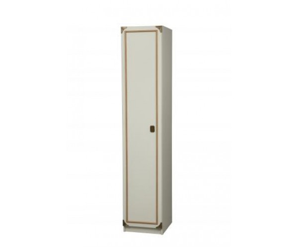 Шкаф для одежды Севилья-1 белый/профиль канат золотой