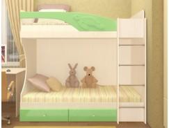 Кровать двухъярусная Адель - 1 дуб линдберг/ эвкалипт металлик