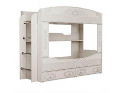 Кровать двухъярусная Каролина вудлайн кремовый/ сандал белый