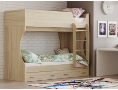 Кровать двухъярусная Адель - Д2 дуб сонома