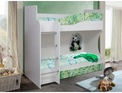 Кровать 2-х ярусная Адель-1 (панда) левая