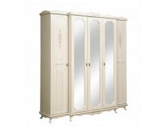 Шкаф для одежды Кантри Патина 06.95 вудлайн кремовый/ сандал белый