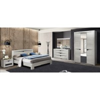 МН для спальни Лючия бетон пайн белый/венге