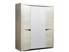 Шкаф 4х ств Лючия 33.01 бетон пайн белый/венге