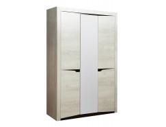 Шкаф 3х ств Лючия 33.02 бетон пайн белый/венге
